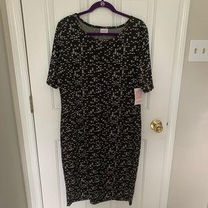 Black and White Jacquard LuLaRoe Julia Dress NWT
